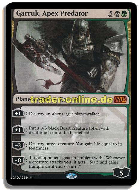 Garruk Apex Predator Trader Onlinede Magic Yu Gi Oh Trading