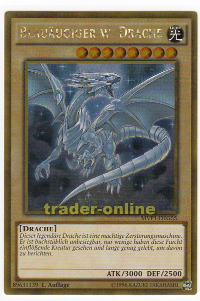 Yu-Gi-Oh Deutsch 1 Gold Rare Auflage Blau/äugiger w MVP1-DEG55 Drache
