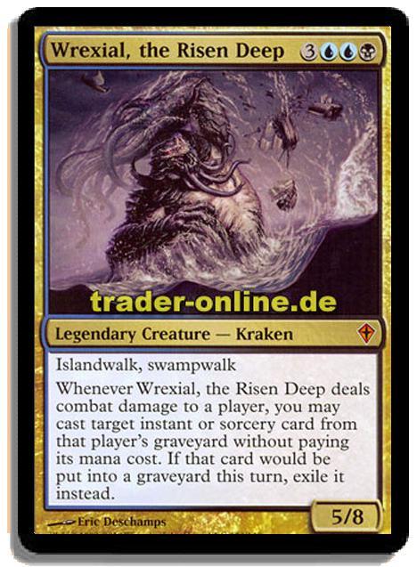 the Risen Deep 1x English Magic x1 Foil MTG Worldwake Played Wrexial