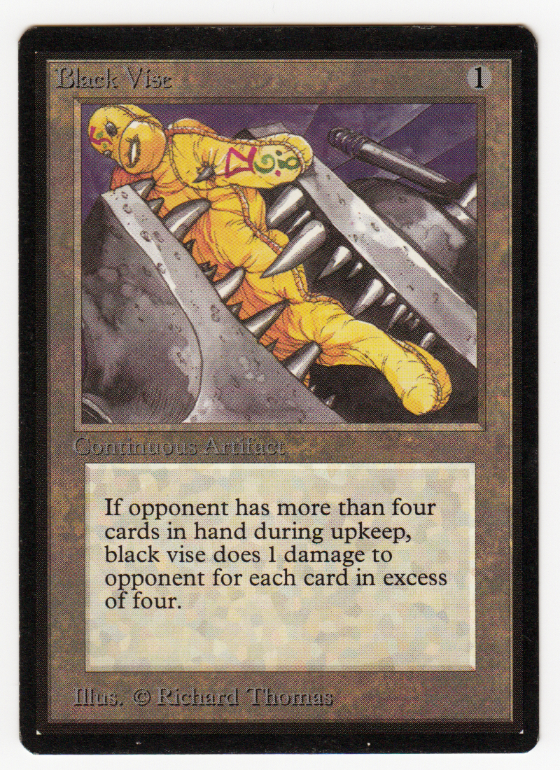 Black Vise Magic Beta black bordered original Scan 16L029