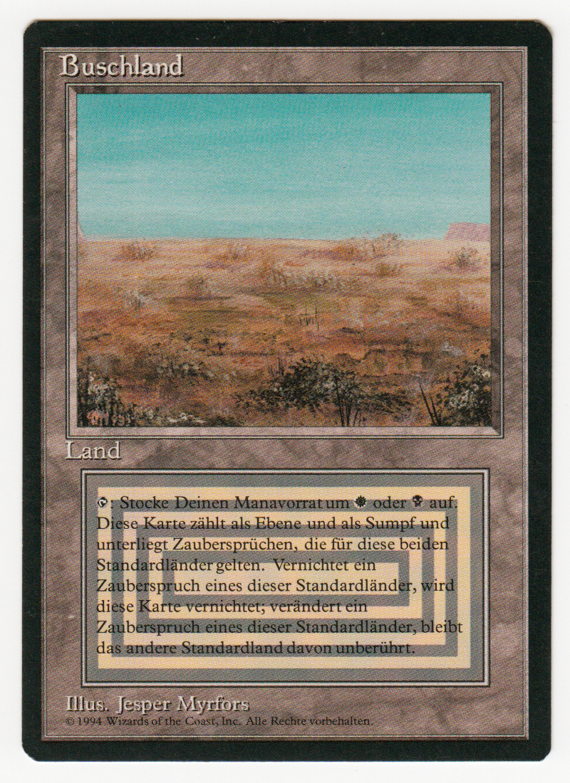 Buschland Scrubland Magic german limited black bordered like beta Scan 16L077