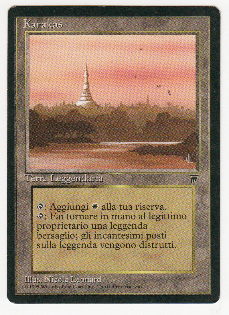Karakas Magic italian Legends original Scan 16L487