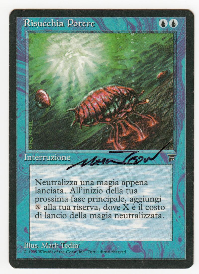 'manasauger' magische knstler unterzeichneten italienischen legenden originalscan 16l500