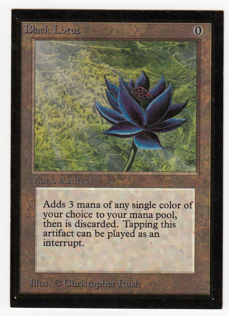 Black Lotus Magic Collectors Edition CE original Scan 16L515