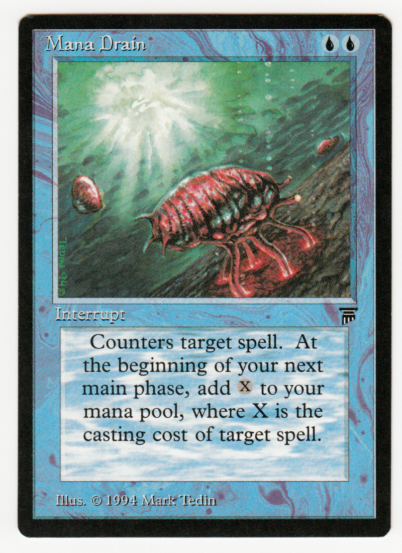Mana Drain Magic english Legends original Scan 16L607