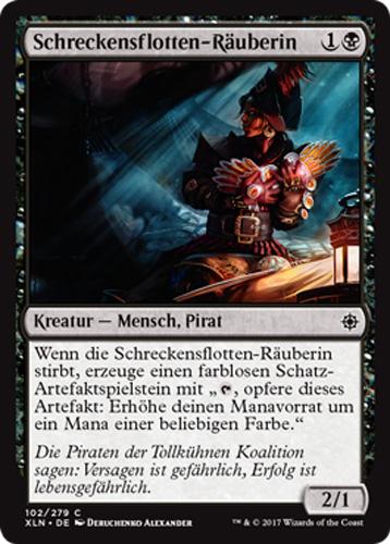 Dire Fleet Hoarder 4x Schreckensflotten-Räuberin Ixalan Magic