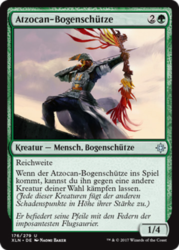 2x Atzocan-bogenschütze (atzocan Archer) Ixalan Magic Goede Reputatie Over De Hele Wereld